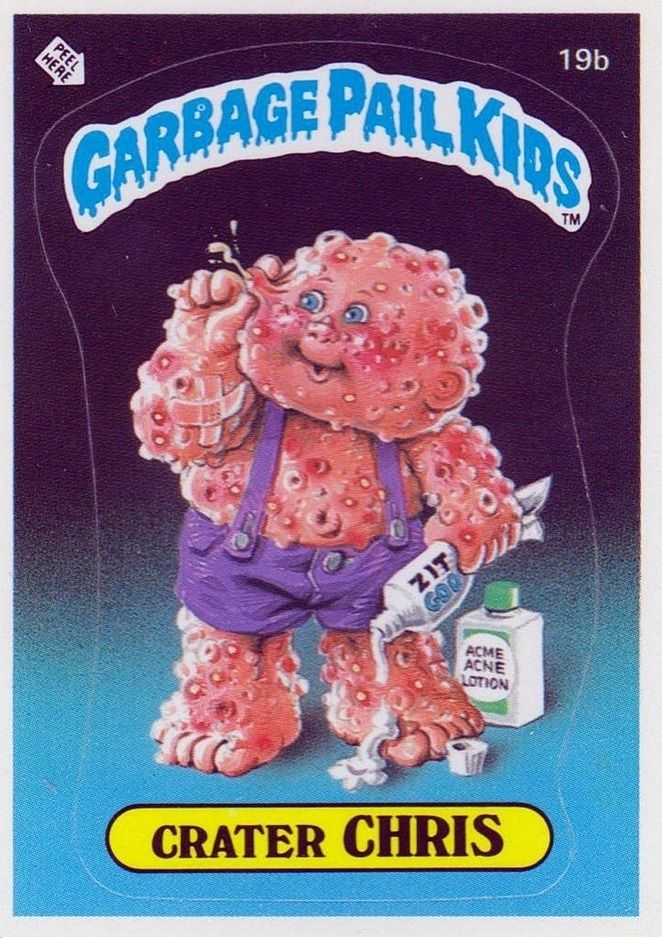 19a Corroded Carl 19b Crater Chris Garbage Pail Kids Garbage Pail Kids Cards Pail