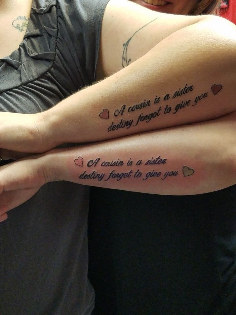 Matching cousin tattoos | tattoos | Matching cousin tattoos ...