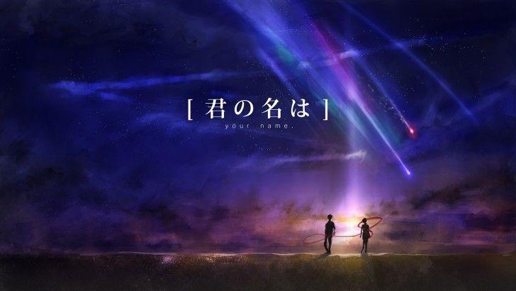 Kimi No Na Wa Your Name Anime Art Comet Wallpaper Pemandangan Anime Pemandangan Gambar