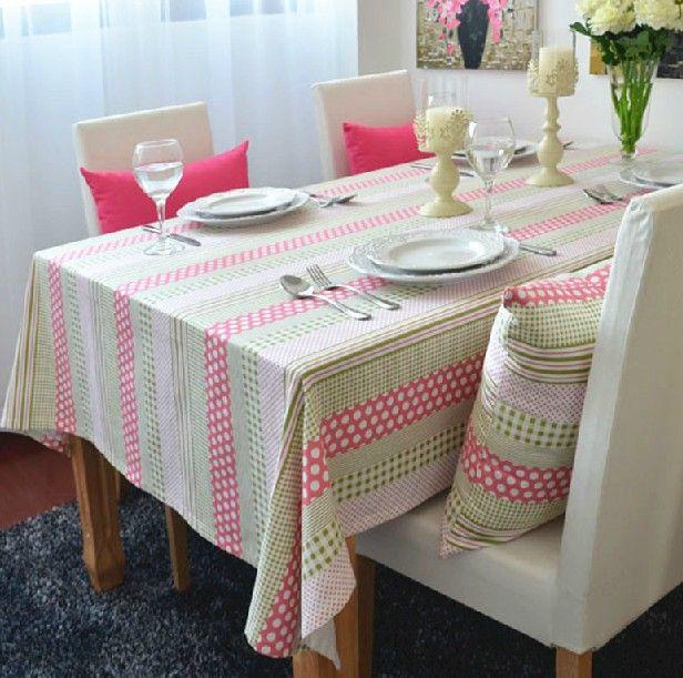 Dining Table Cloth · Barato Mar Coral Rústico Tarja Do Algodão Personalizar  100% Toalha De Mesa De Jantar Pano