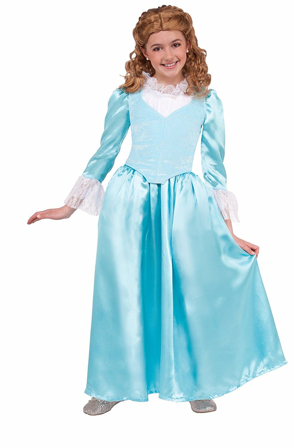 Forum Blue Colonial Lady Child Costume Toys