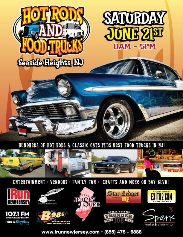 Hot Rods And Food Trucks Seaside Heights Nj With Images Hot