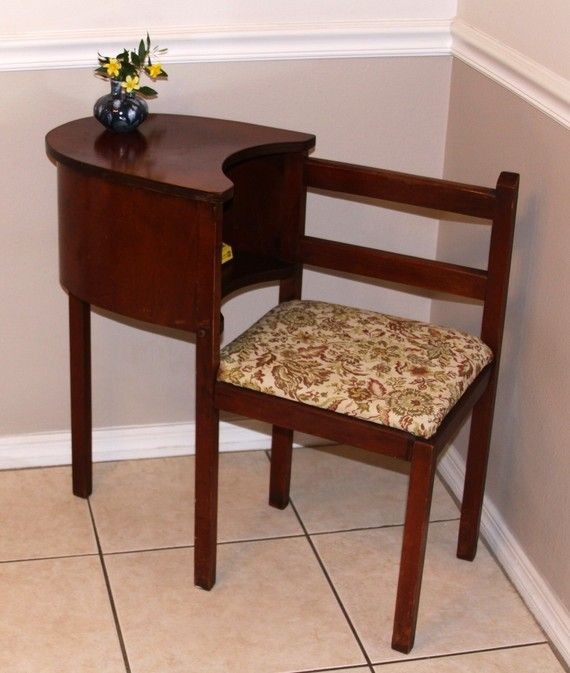 My grandmother had a telephone table like this in the hallway. This is  where you sat when you talked on the phone. There were no other phones in  the house ... - I Think This Would Look Cute In A Corner Of The Hallway With My