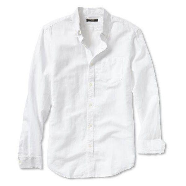 Banana Republic Slim Fit Linen/Cotton Button Down Shirt - White ...