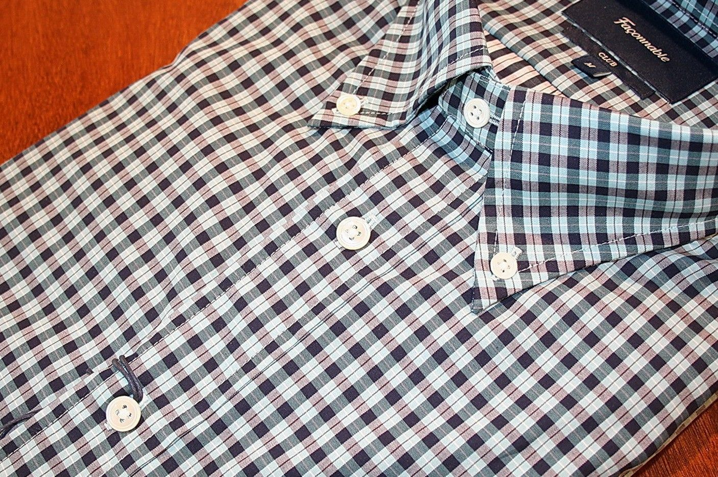 Faconnable  Plaid   Sport Shirt Navy/ Blue | #Mondo #Uomo #Naples #Fashion