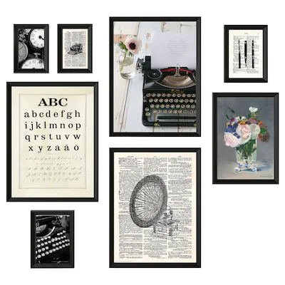Frames Pictures Ikea In 2020 Wall Collage Frame Typewriter