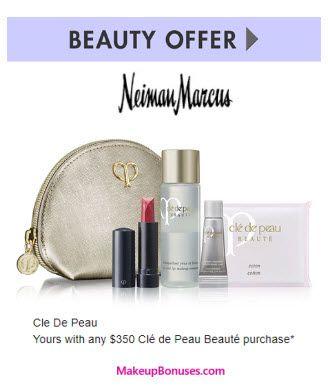 Neiman Marcus Free Gift Offers from Clé de Peau Beauté, Dior Beauty, Giorgio Armani, Gucci, Guerlain, La Mer, Le Metier de Beaute, & Yves Saint Laurent ...