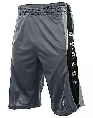 56bf3399884 Nike Jordan Takeover Mens 724831-066 Grey Dri-Fit Basketball Shorts Size XL