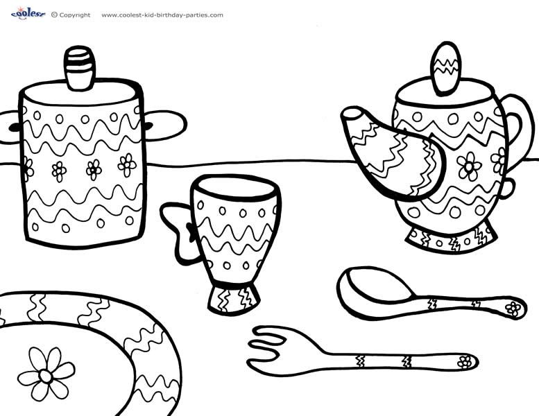 printable coloring pages tea - photo#40