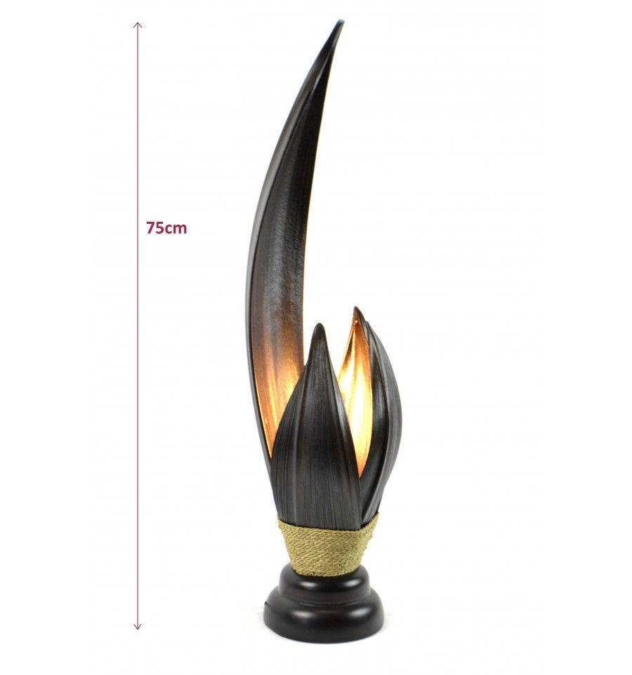 lampe coco   Grande lampe de salon en feuille de cocotier h75cm ...
