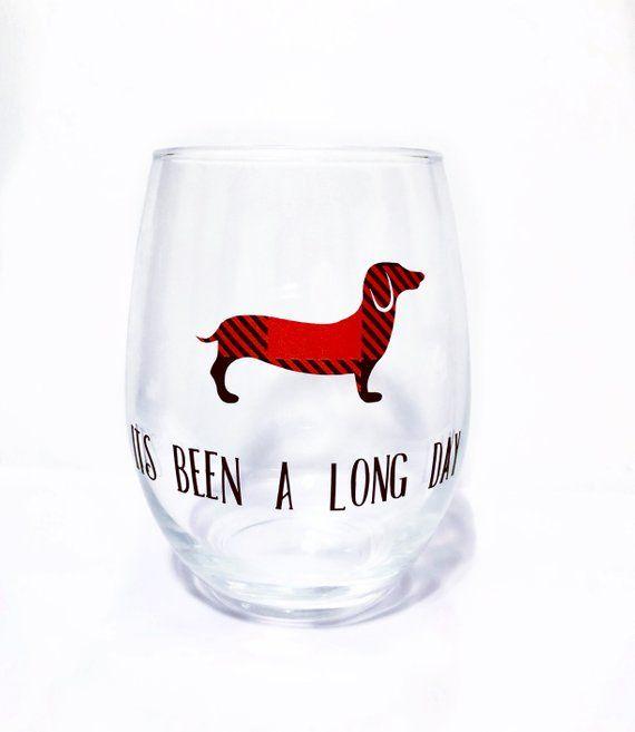 205713b8967 Dachshund, Wine Glass, Stemless Wine Glass, Dog Gifts, Dachshund ...