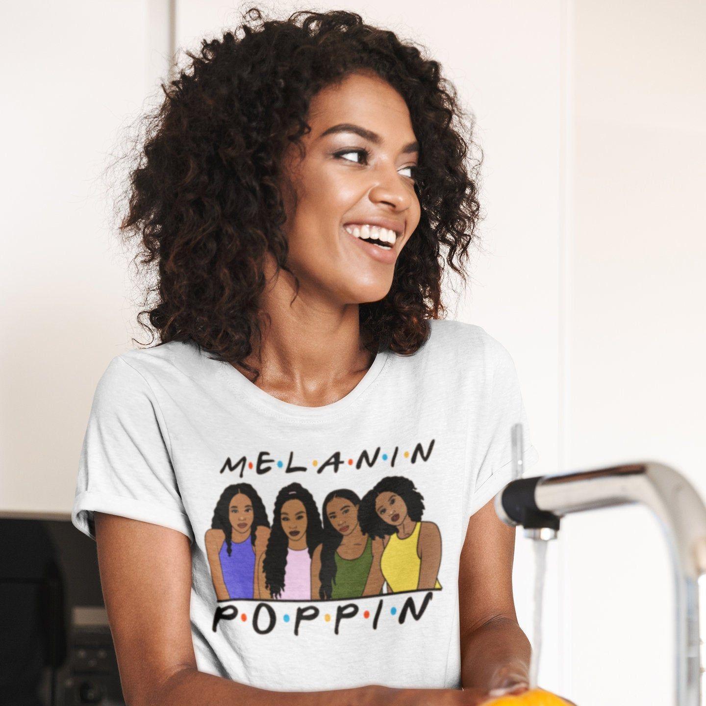 Melanin Poppin Shirt Every Shade Slays Black Girls Afro Etsy In 2020 Melanin Melanin Shirt Black Girls