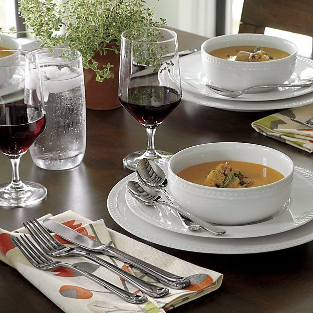 Staccato 16 Piece Dinnerware Set Crate And Barrel
