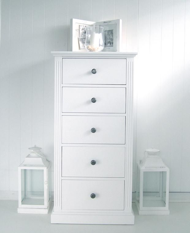 Nantucket White Tall Chest Home Accessories White Bedroom