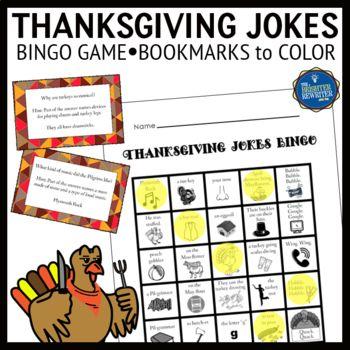 Thanksgiving Jokes Bingo