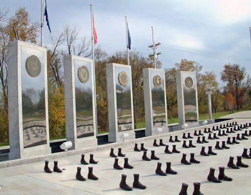 O'Fallon's Veterans Memorial Walk in Missouri located at TR Hughes Blvd and Hwy 70