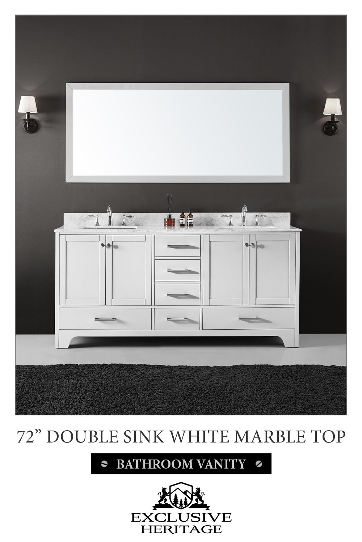 Double sink white bathroom vanities exclusive heritage clariette u double sinks bathroom vanity in