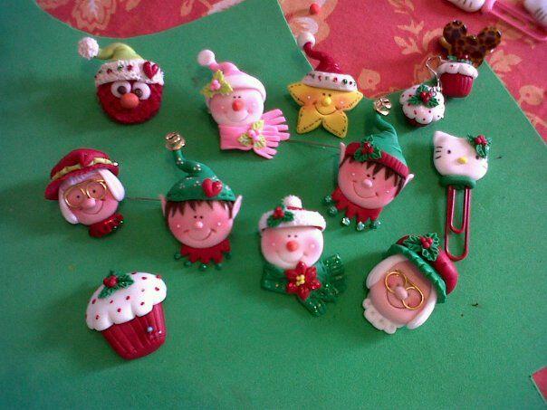 Prendedores de navidad fofuchos pinterest porcelana for Adornos navidenos en porcelana fria utilisima