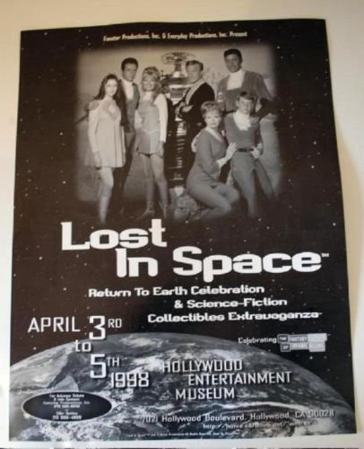 Rare-1998-Lost-in-Space-Reunion-Comic-Con-Show-Poster-Robot-Vintage-Full-Cast