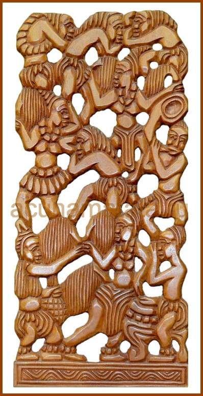 панно из красного дерева - Фигурки из дерева