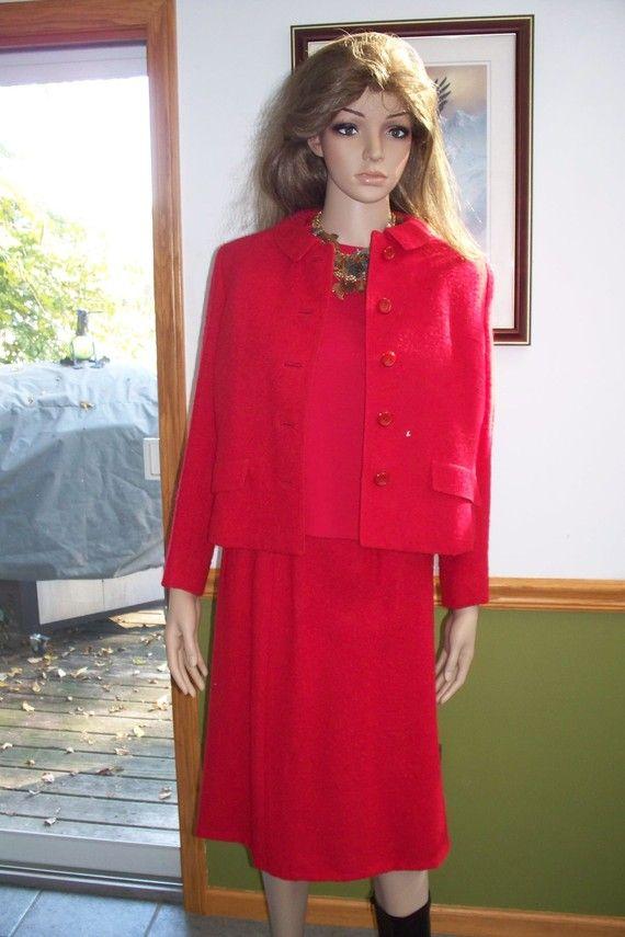 Vintage Red Three Piece Suit