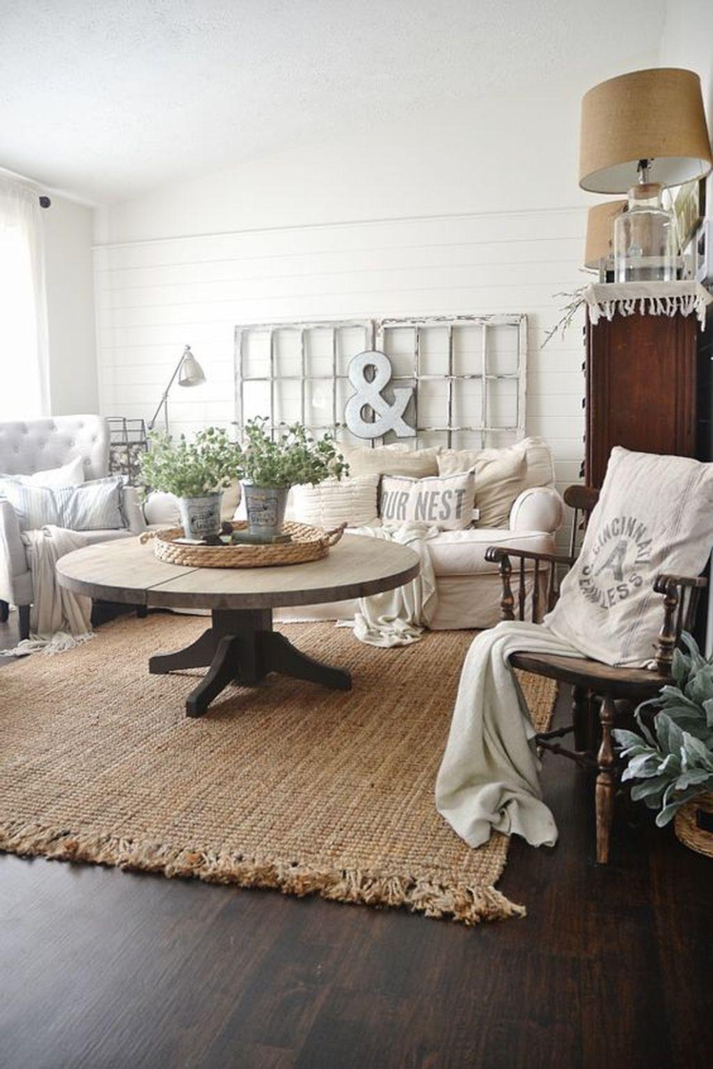 Cool 36 Amazing Modern Farmhouse Living Room Decor Ideas