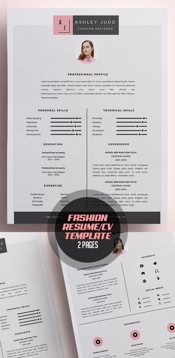 New Modern Cv Resume Templates With Cover Letter Design Graphic Design Junction Unique Resume Template Graphic Design Resume Resume Design