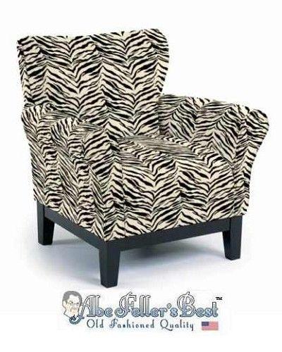 Zebra Print Club Chair
