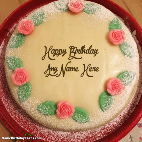 Make An Attractive Happy Birthday Cake With Name And Photo Of Your Friends Relatives Share Wishes In Awesome Way