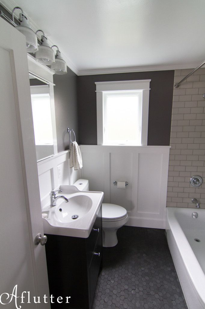Queen Anne Bath The Result - IKEA hemnes vanity Bathroom remodel