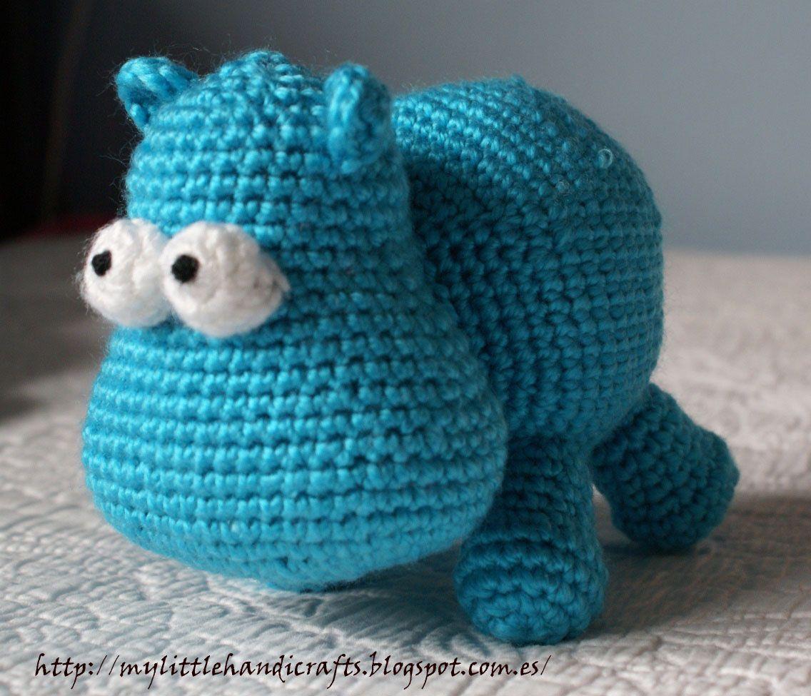 Patrón hipopótamo amigurumi 4 euros   Amigurumi   Pinterest ...