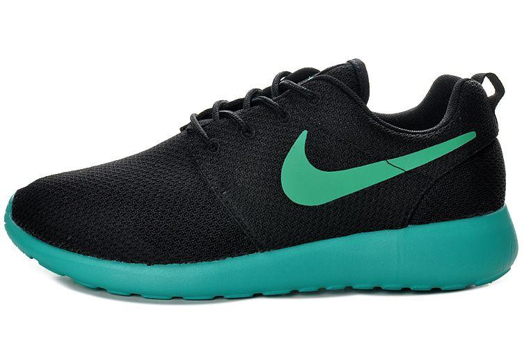 7310e9009406 Nike Roshe Run Herren Schwarz Blau Mesh Schuhe Verkauf Schweiz ...