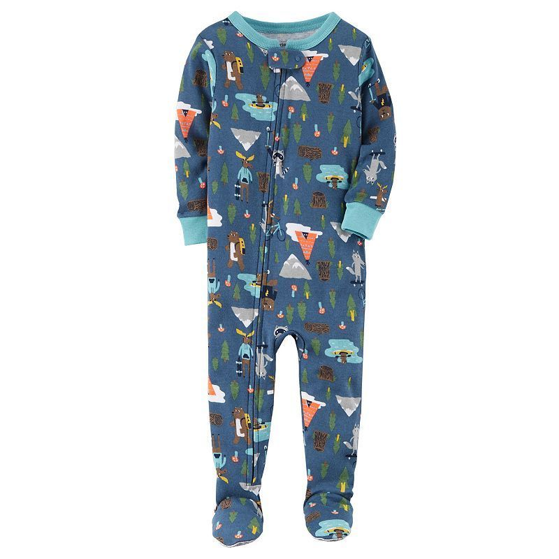 537780a0c16f Baby Boy Carter s Printed Footed Pajamas