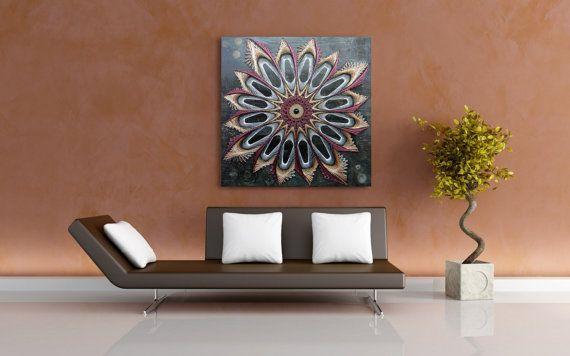 String Nail Art Onyx Mandala Wall Art On Wood Home Decor