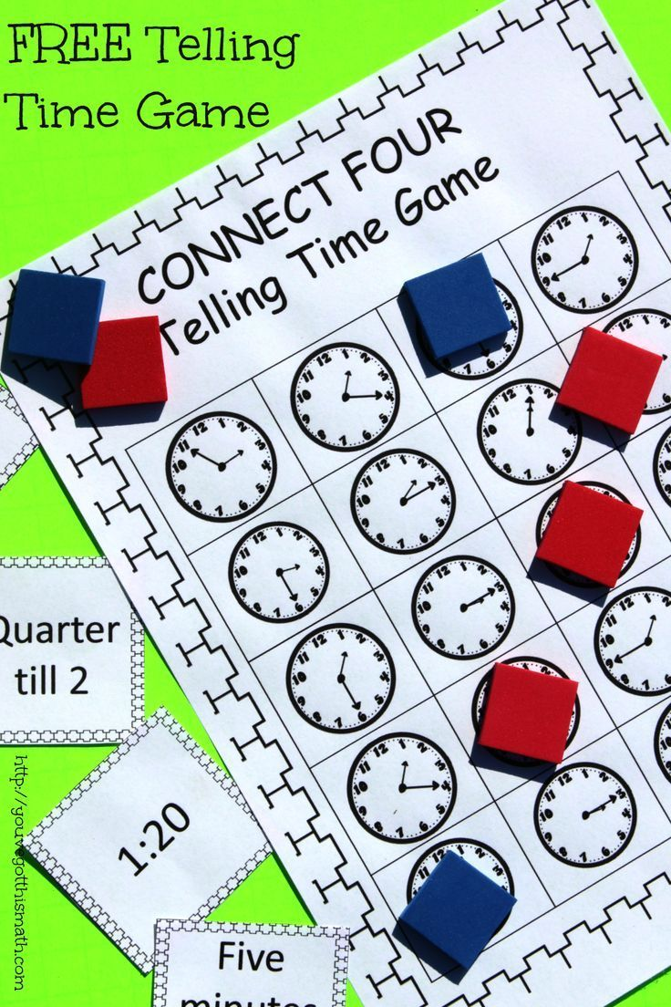 How to Practice Telling Time With A Fun, Easy Game | Telling time ...