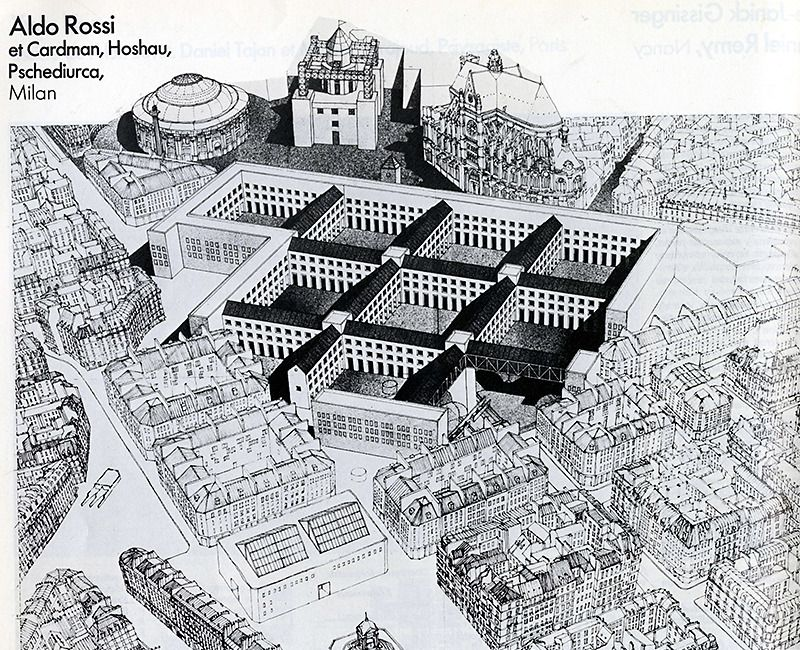Line Drawings From D Models : Aldo rossi architecture d aujourd hui apr rndrd