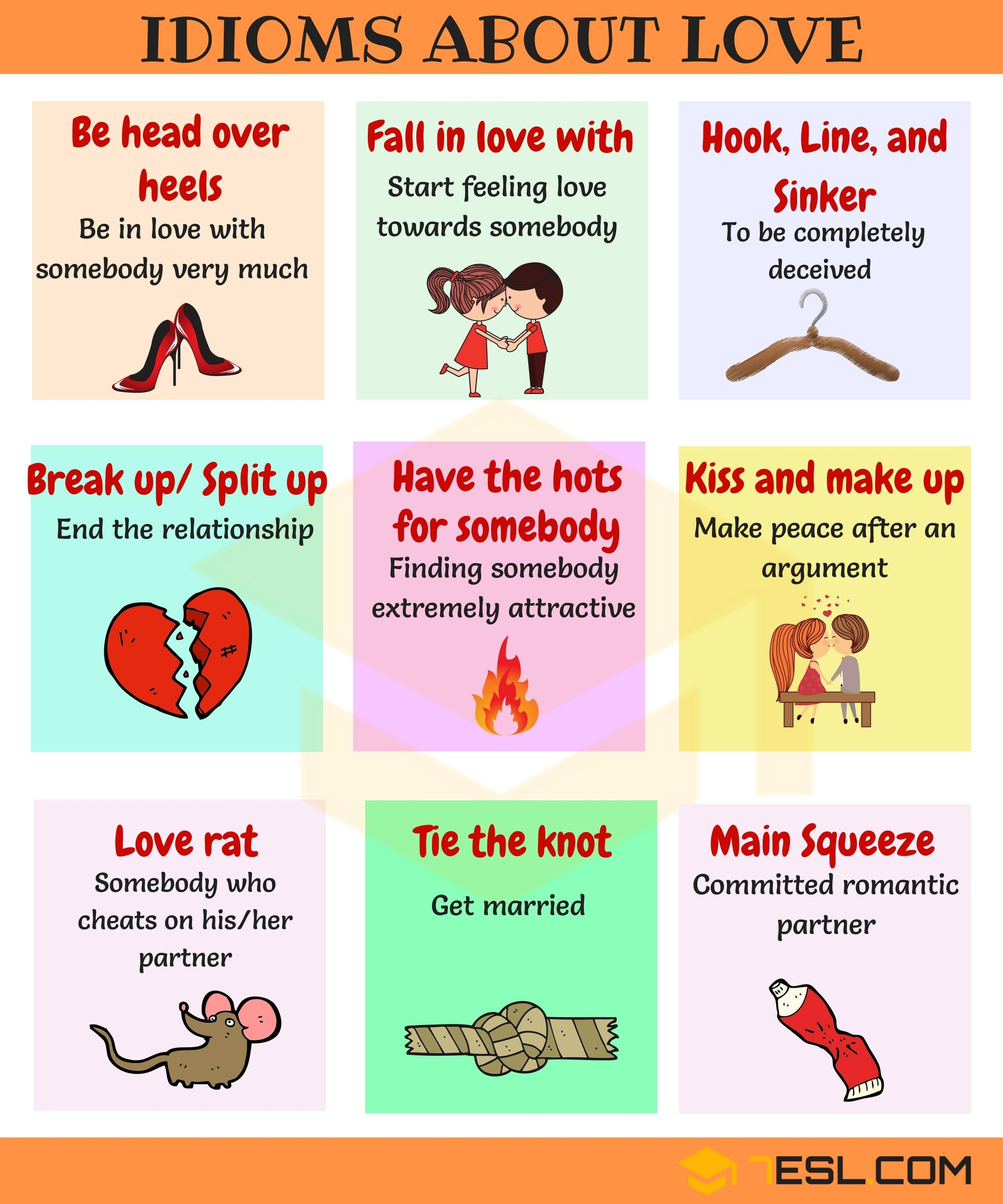 35 Useful Love Idioms Sayings Amp Phrases With Examples