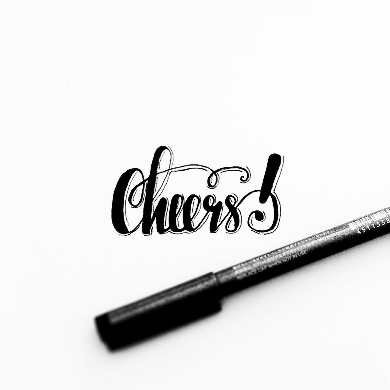 cheers #kalligrafie #kalligraphy #kalligraffiti #calligrafie, Einladung