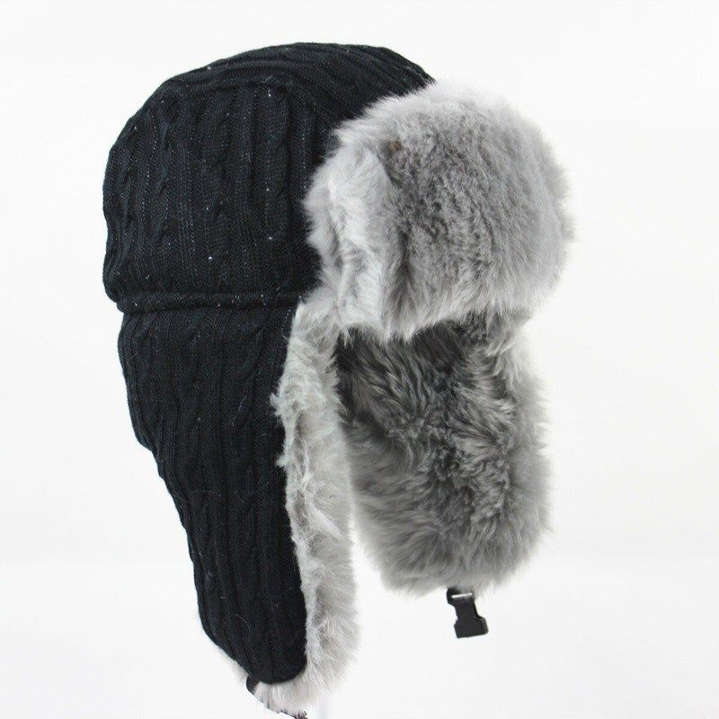 79b9c743520 Wuaumx Winter Bomber Hat Russian Hat Men earflaps cap Protect Warm Thicken  Bomber Hat For Women Woolen Ear Protection Bonnet Cap now available on  Affordable ...