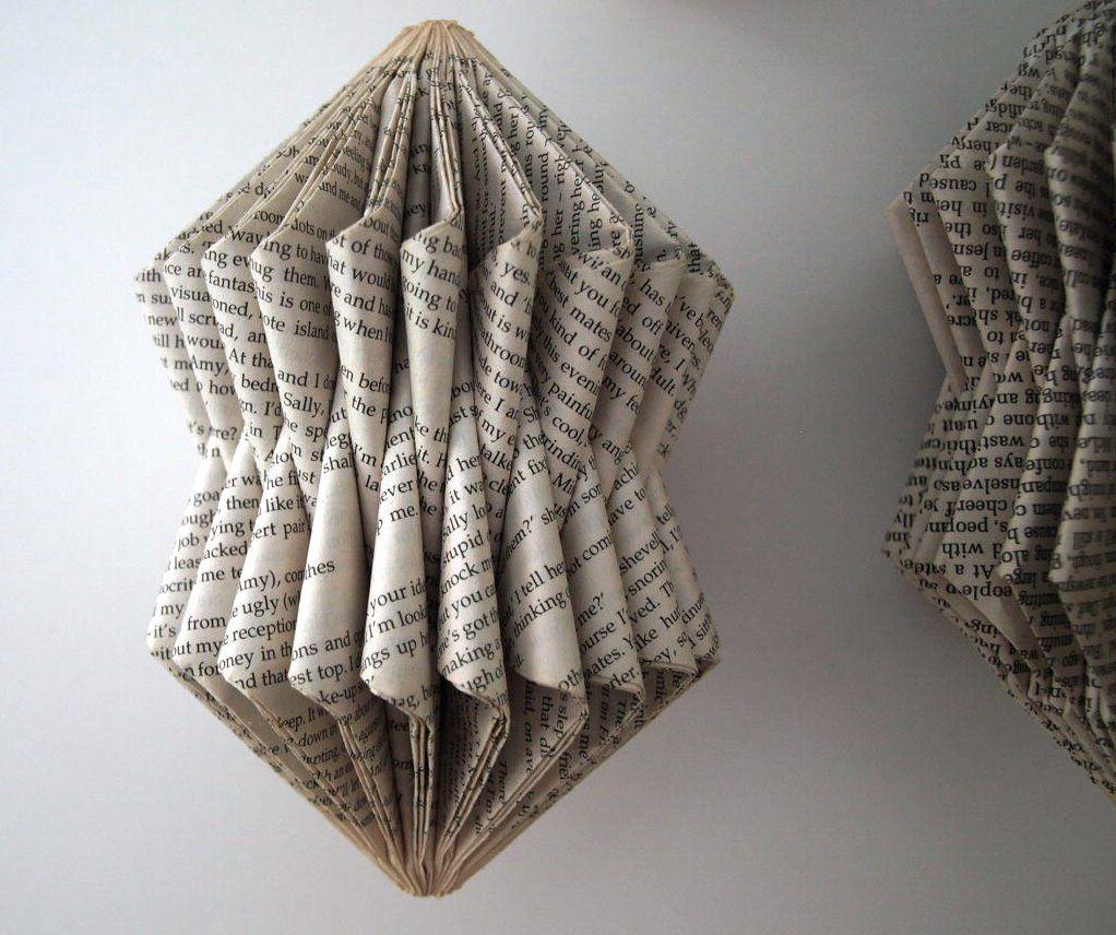 folded book sculpture tutorial