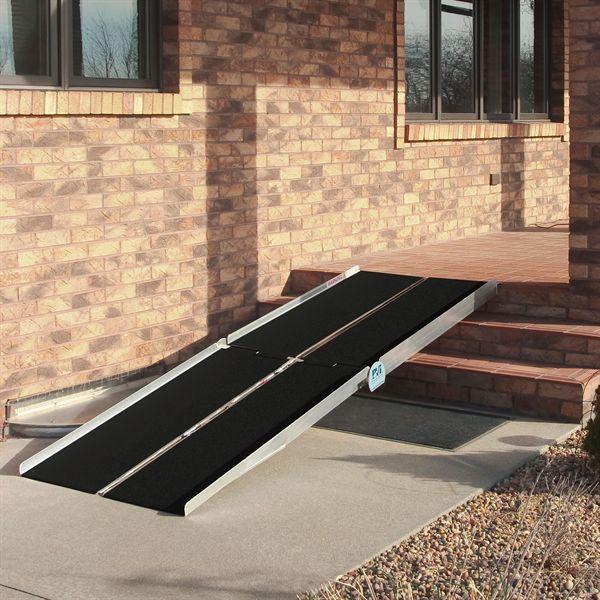 Walking The Ramp For Home Decor Ideas: PVI Aluminum Multi-Fold Wheelchair Ramp