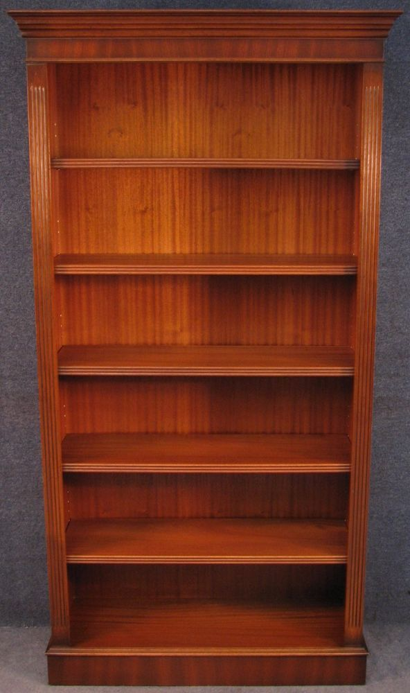 georgian style tall mahogany bookcase bookshelves georgian - Mahogany Bookshelves