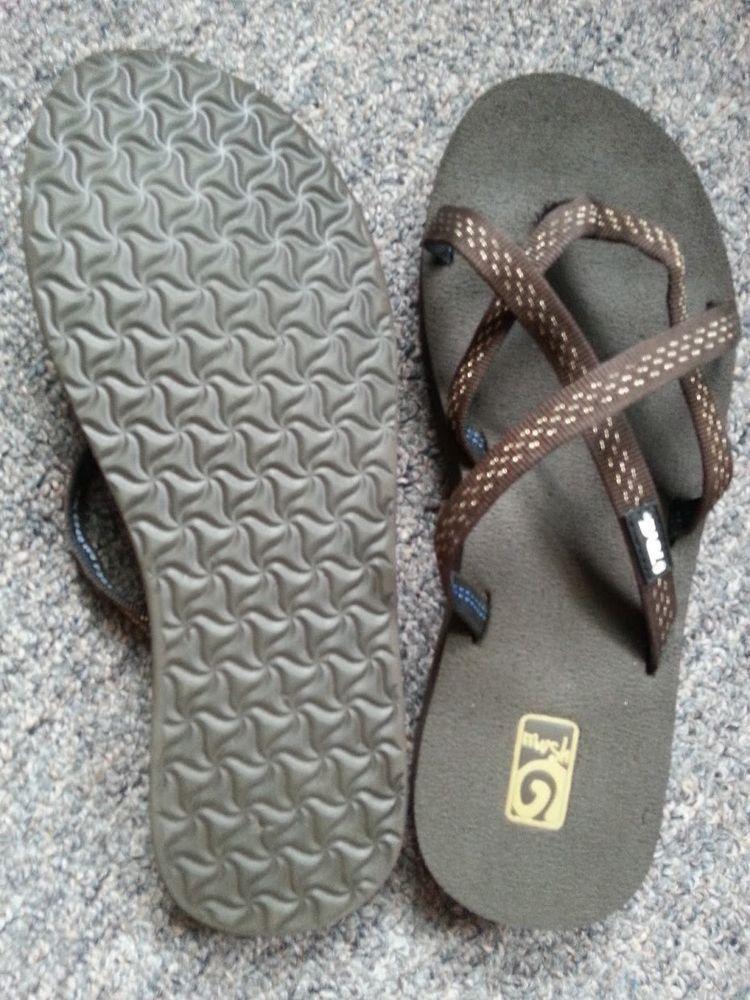 0570612fe Women s Teva Olowahu Criss Cross Mush Straps Brown Size 7 8 Sandals Flip  Flops  Teva  FlipFlops