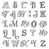 Broadsheet Alphabet set by Stampin' Up! for $29.95 Love the different fonts of each letter.  Great set to mongram projects with