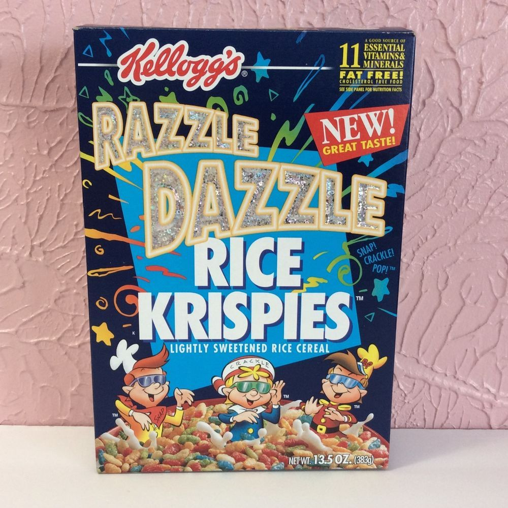 Vintage Razzle Dazzle Rice Krispies Cereal Box Empty Kelloggs 1998