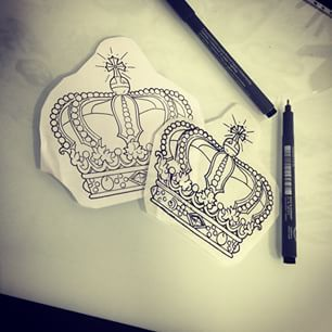Instagram photo by hugofeist - #king #queen #crown #draw # ...
