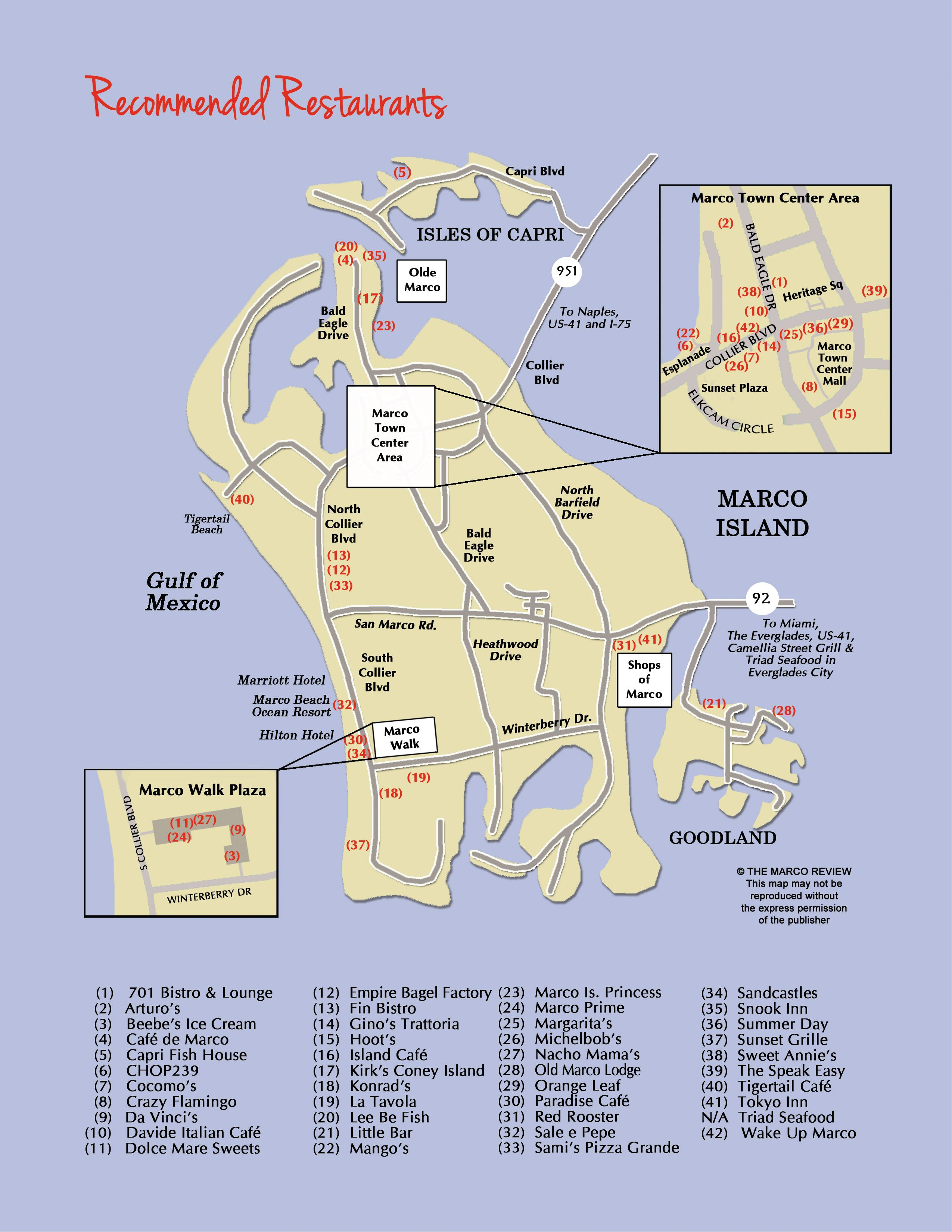 Map Of Marco Island Florida.Restaurant Map Of Marco Island Florida Restaurants Oh The