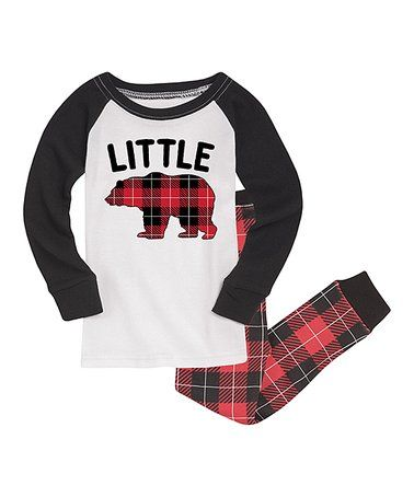 cf8f51f72 Loving this White & Black 'Little' Bear Ragan Pajama Set - Toddler & Kids  on #zulily! #zulilyfinds