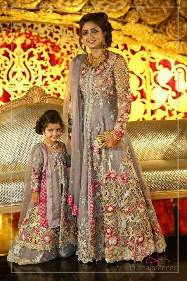 Pin by asif on gallery pinterest clothing frocks and for Mother daughter dresses for weddings