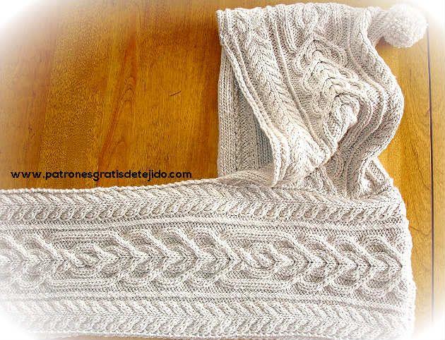 bufanda con capucha | Crochet y Dos Agujas | Pinterest | Bufanda con ...